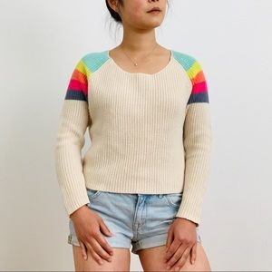 BDG Urban Outfitters Rainbow Sweater Crop Top